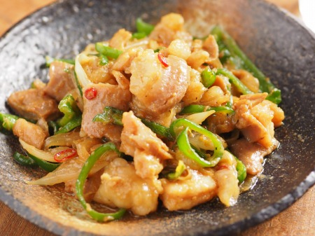 生ホルモンのピリ辛味噌炒め29
