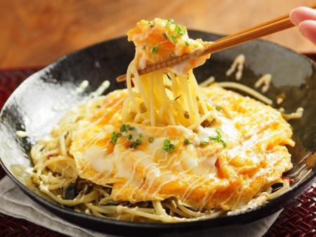 とろとろ卵かけ高菜スパゲティ40