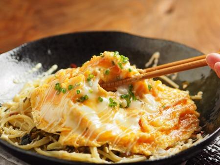 とろとろ卵かけ高菜スパゲティ34