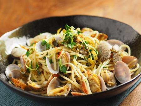 あさりと高菜の和風スパゲティ34