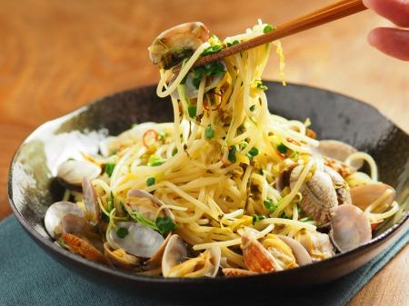 あさりと高菜の和風スパゲティ48