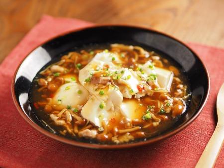 豆腐のなめこあんかけ丼29
