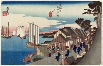 歌川広重 「東海道五十三次・品川 日乃出」