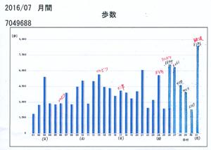 7月分歩数グラフblog01