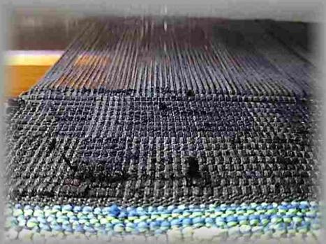 黒の網代織り1