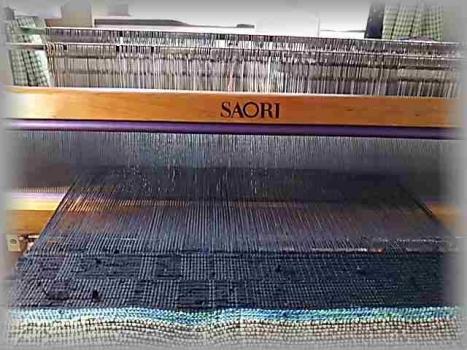 黒の網代織り2