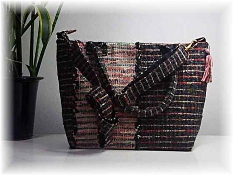 3-1の織のバッグ1
