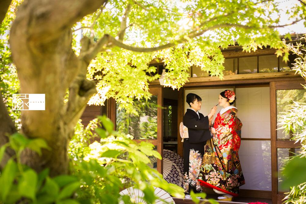 フォト婚和装鎌倉縁家族着付け17