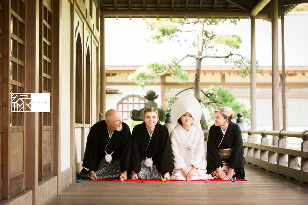 フォト婚和装鎌倉縁家族着付け25