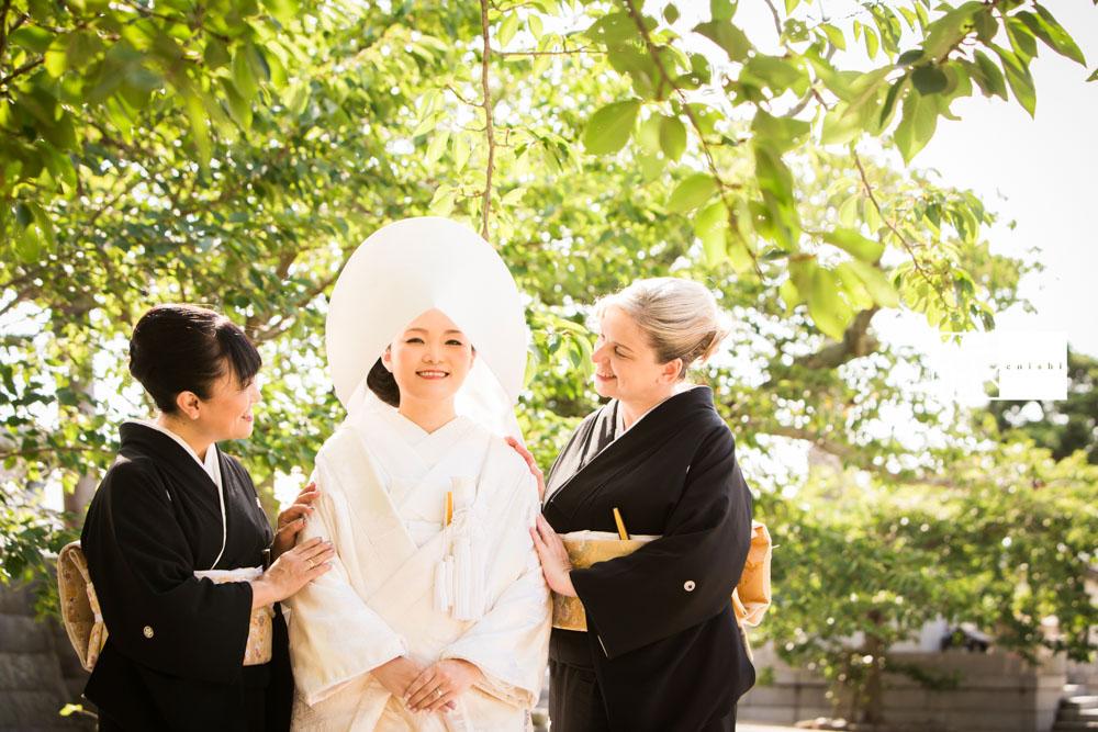フォト婚和装鎌倉縁家族着付け36