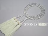 L-42白水晶108面8mm 二輪八宗 共仕立 正絹白頭房