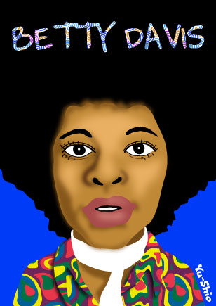 Betty Davis caricature