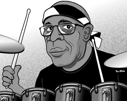 Billy Cobham caricature