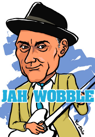 Jah Wobble caricature