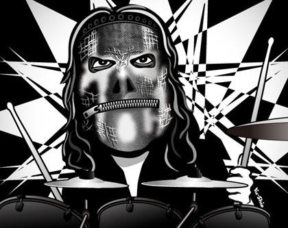 Jay Weinberg Slipknot caricature