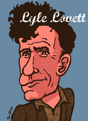 Lyle Lovett caricature