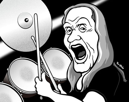 Nicko Mcbrain caricature