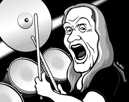 Nicko Mcbrain caricature