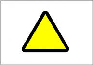 三角の標識テンプレート・フォーマット・雛形