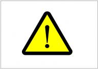 注意の標識テンプレート・フォーマット・雛形