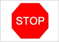 STOPの標識テンプレート・フォーマット・雛形