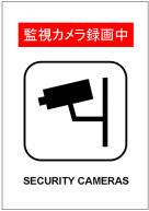 監視カメラ録画中の張り紙テンプレート・フォーマット・雛形