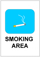 SMOKING _AREAの張り紙テンプレート・・フォーマット・雛形
