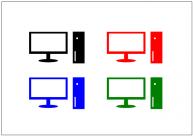 デスクトップパソコンのフリー素材テンプレート・画像・イラスト