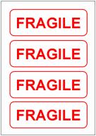 FRAGILEの張り紙テンプレートテンプレート・フォーマット・雛形