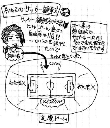 はじめてのサッカー観戦01