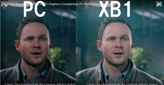 Quantum Break Graphics Comparison Xbox One vs PC