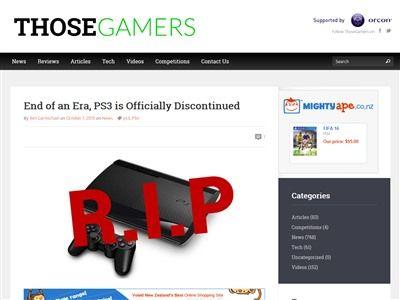 1つの時代の終わり、PS3がディスコンへ