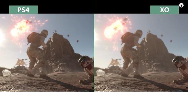『スターウォーズ バトルフロント』、PS4版とXboxOne版のグラフィック差ありすぎなんだけどwwwwwww