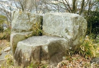 矢射り足場台石