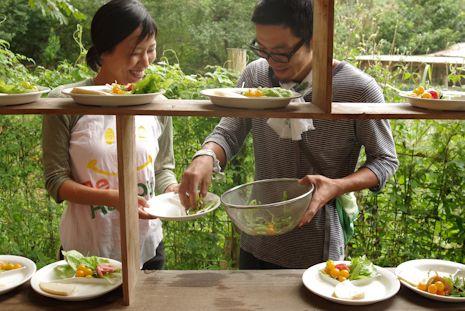 農園の朝食2