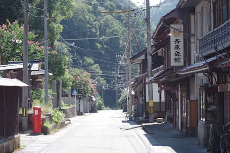 昭和の家並み、阿須那の街