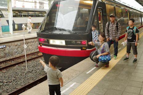 伊豆急の電車も楽しいね