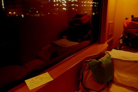 夜汽車の車窓