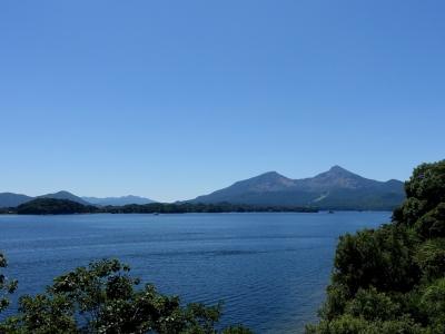 桧原湖より磐梯山