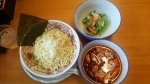 TAKO房 イカすり身の辛口醤油つけ麺(温野菜付き) 16.8.28