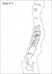チリ白地図