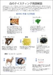 白(香辛料・芳香・化学物質)