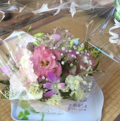 お花いただきましたo(^▽^)o