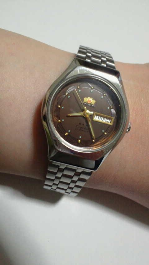 オリエント自動巻き時計