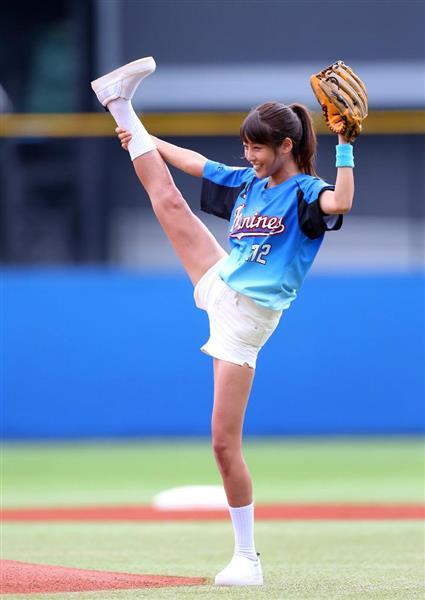 いつもの黒い女子アナ 岡副麻希が始球式