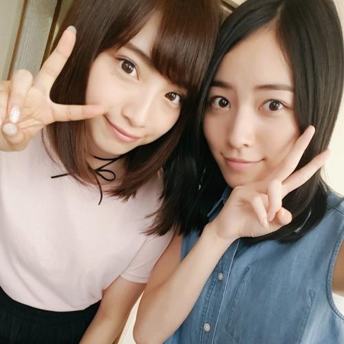"""松井珠理奈&""""日本一かわいい女子高生""""りこぴん2ショットにファン歓喜"""