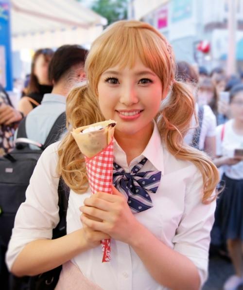 【HKT48】兒玉遥、「金髪ギャルメイク」で竹下通り歩く! 総選挙公約を実行