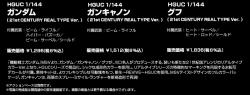 「HG ガンダム(21stCENTURY REAL TYPE Ver.)」、「HG ガンキャノン(21stCENTURY REAL TYPE Ver.)」、「HG グフ(21stCENTURY REAL TYPE Ver.)」の商品説明画像7