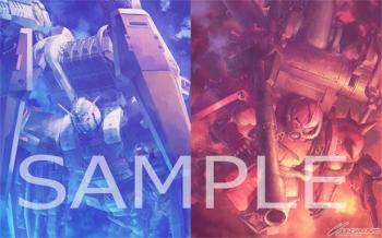 『機動戦士ガンダム サンダーボルト DECEMBER SKY』のBlu-rayDVD「カトキハジメ描き下ろしBOX」W表紙イラスト