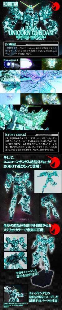 ROBOT魂 ユニコーンガンダム(結晶体Ver.)の商品紹介記事
